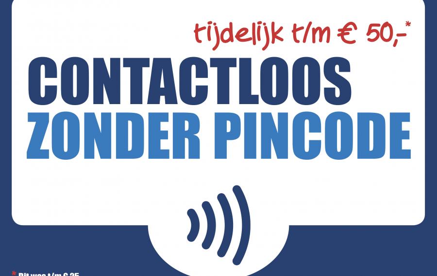 contactloos betalen tijdelijk zonder pincode