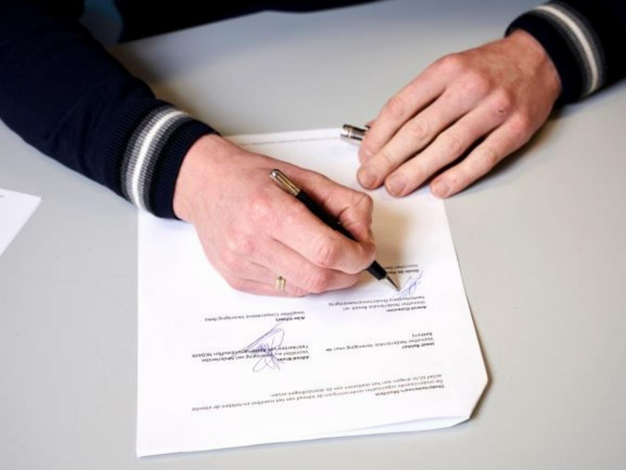 Ondertekening Manifest door NBOV.
