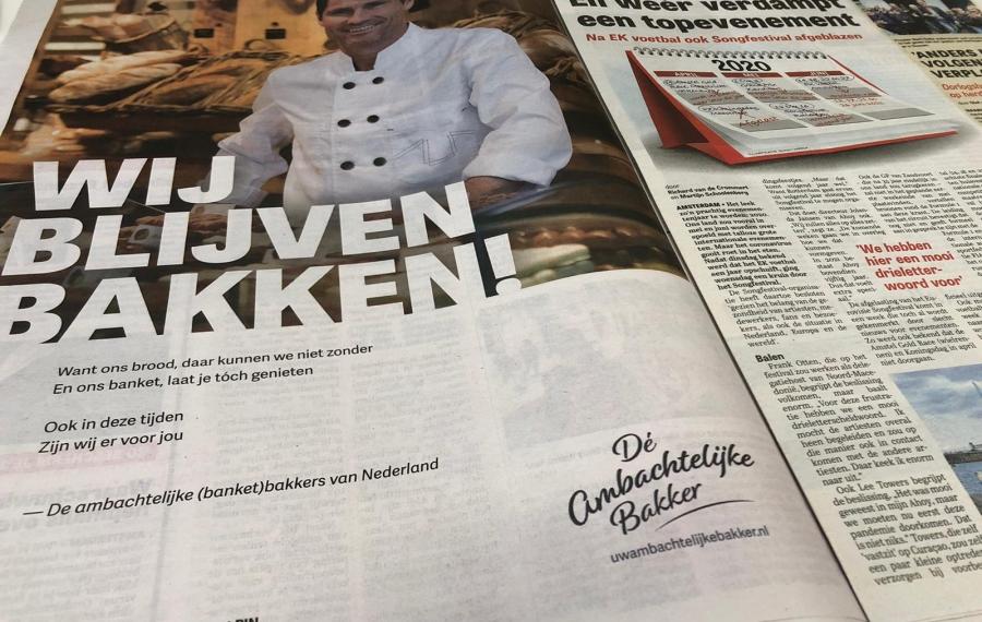 wij blijven bakken Telegraaf
