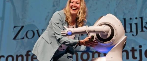 Chantal Riedeman na haar presentatie over klantbeleving